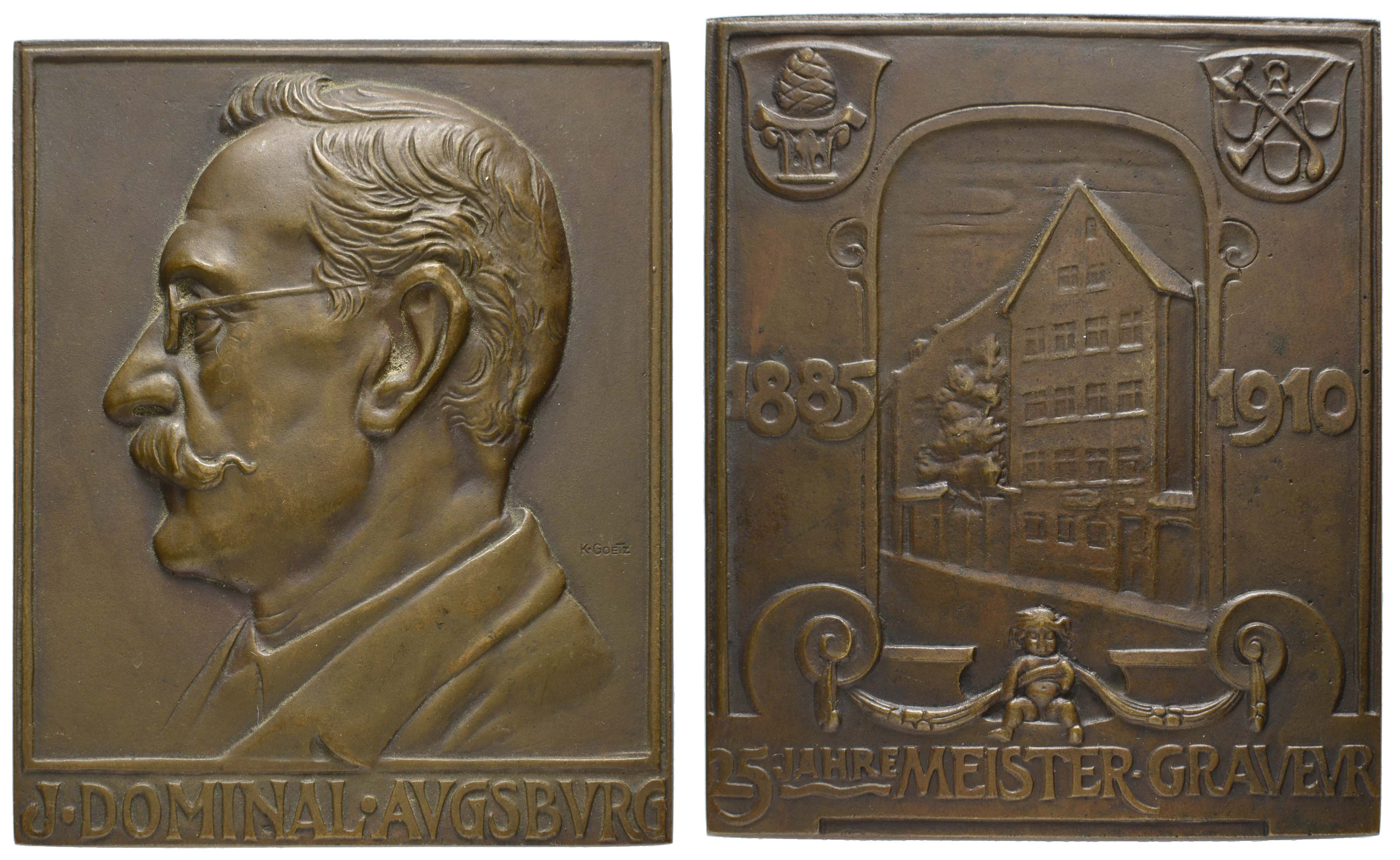 Lot 21 - Medaillen_Spezialsammlung Goetz-Medaillen  -  Auktionshaus Ulrich Felzmann GmbH & Co. KG Auction 170 International Autumn Auction 2020 Day 2