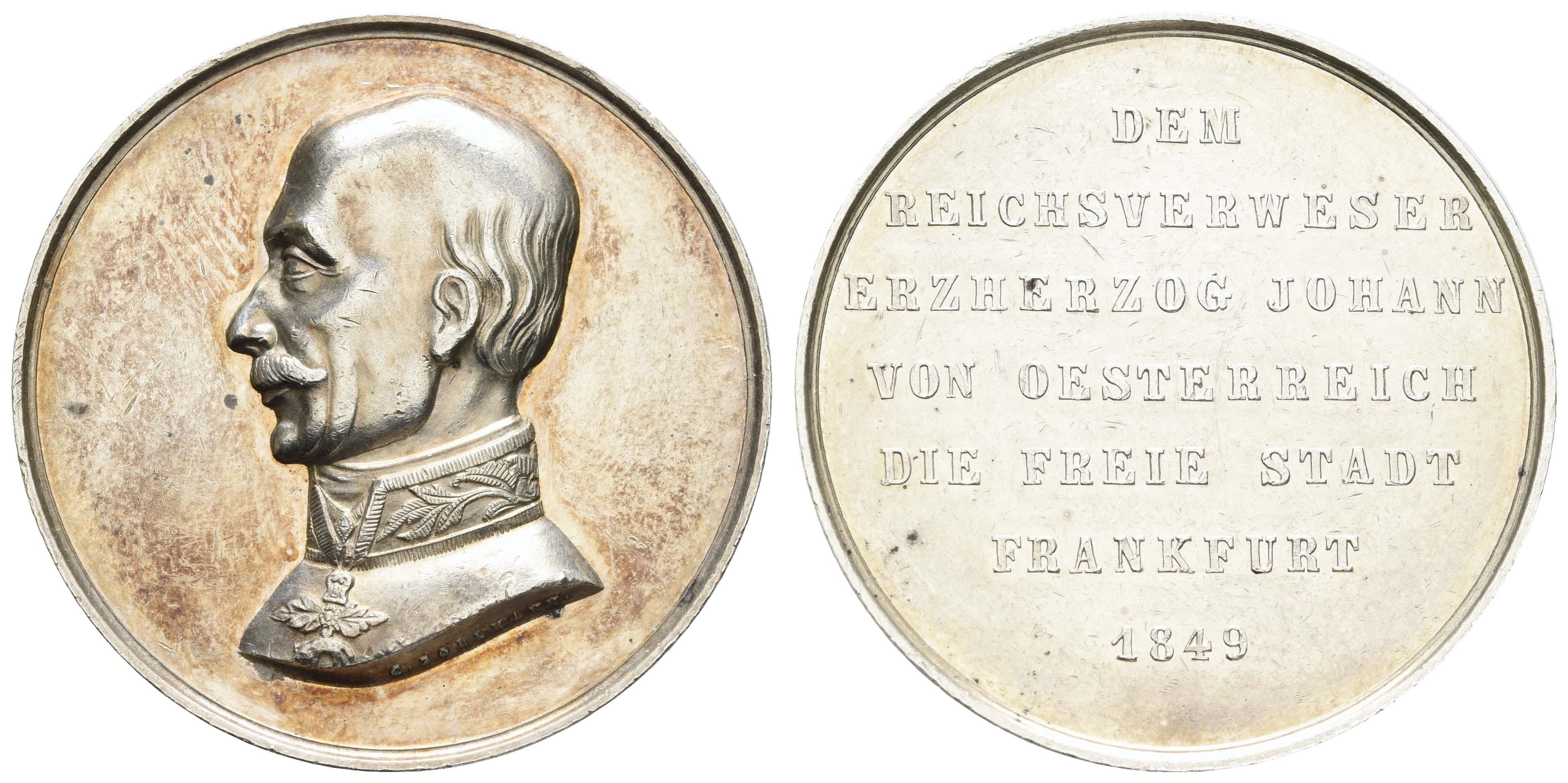 Lot 1849 - Medaillen_Sonstige Medaillen_Städtemedaillen  -  Auktionshaus Ulrich Felzmann GmbH & Co. KG Auction 170 International Autumn Auction 2020 Day 2