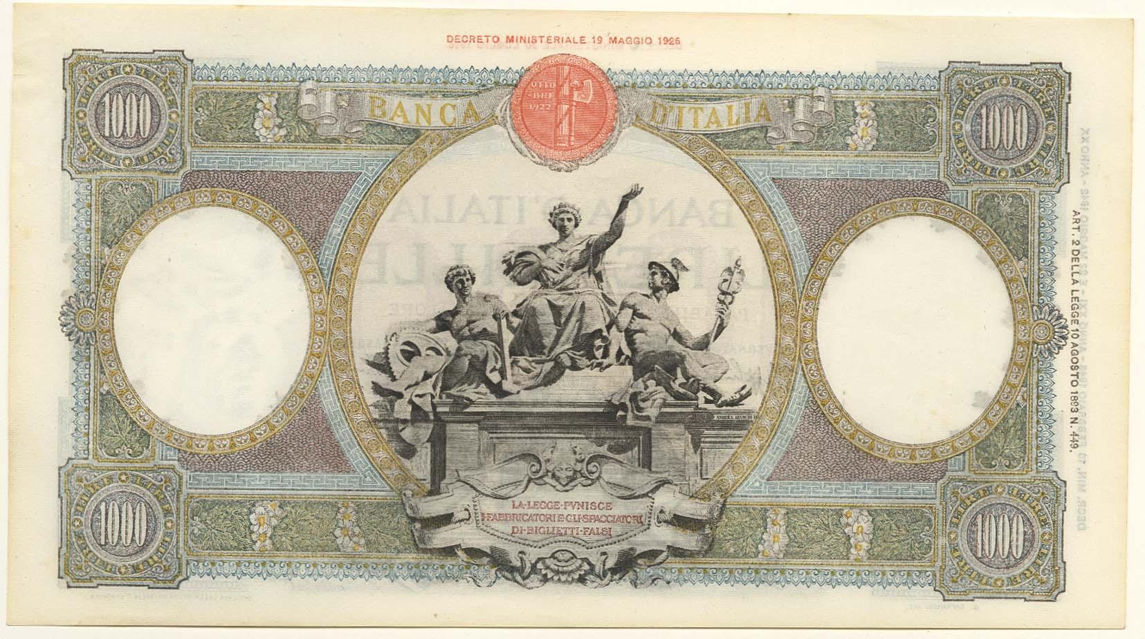 Lot 1920 - Geldscheine_Ausland_Italien  -  Auktionshaus Ulrich Felzmann GmbH & Co. KG Auction 170 International Autumn Auction 2020 Day 2