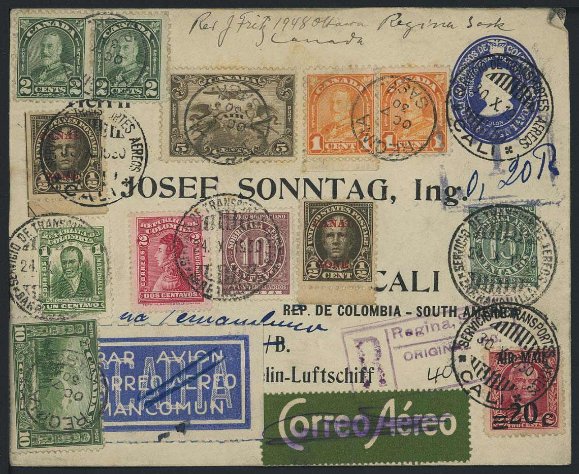 Lot 3017 - Flugpost_SCADTA  -  Auktionshaus Ulrich Felzmann GmbH & Co. KG Auction 170 International Autumn Auction 2020 Day 3