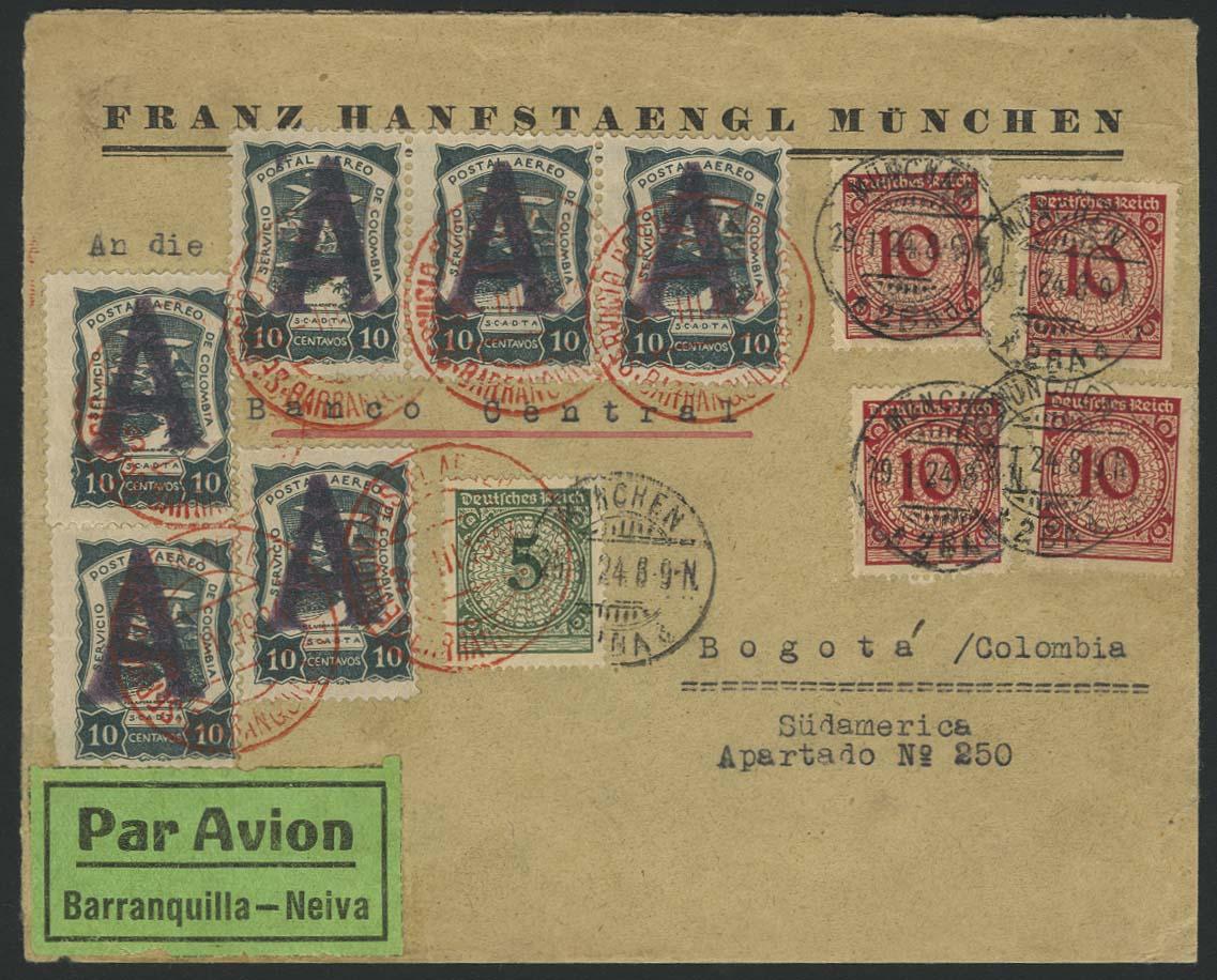 Lot 3020 - Flugpost_SCADTA  -  Auktionshaus Ulrich Felzmann GmbH & Co. KG Auction 170 International Autumn Auction 2020 Day 3