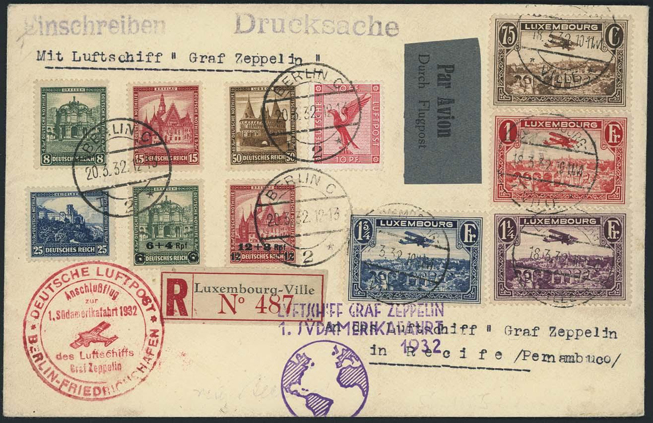 Lot 3462 - Zuleitungen_Europa A-Z_Luxemburg  -  Auktionshaus Ulrich Felzmann GmbH & Co. KG Auction 170 International Autumn Auction 2020 Day 3