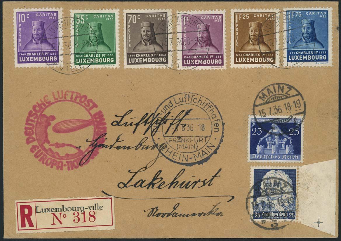 Lot 3474 - Zuleitungen_Europa A-Z_Luxemburg  -  Auktionshaus Ulrich Felzmann GmbH & Co. KG Auction 170 International Autumn Auction 2020 Day 3