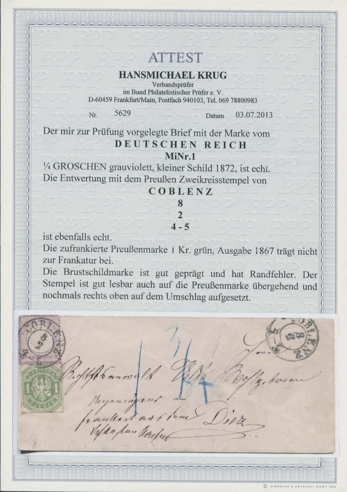 Lot 4190 - Deutsches Reich_Brustschilde  -  Auktionshaus Ulrich Felzmann GmbH & Co. KG Auction 170 International Autumn Auction 2020 Day 4