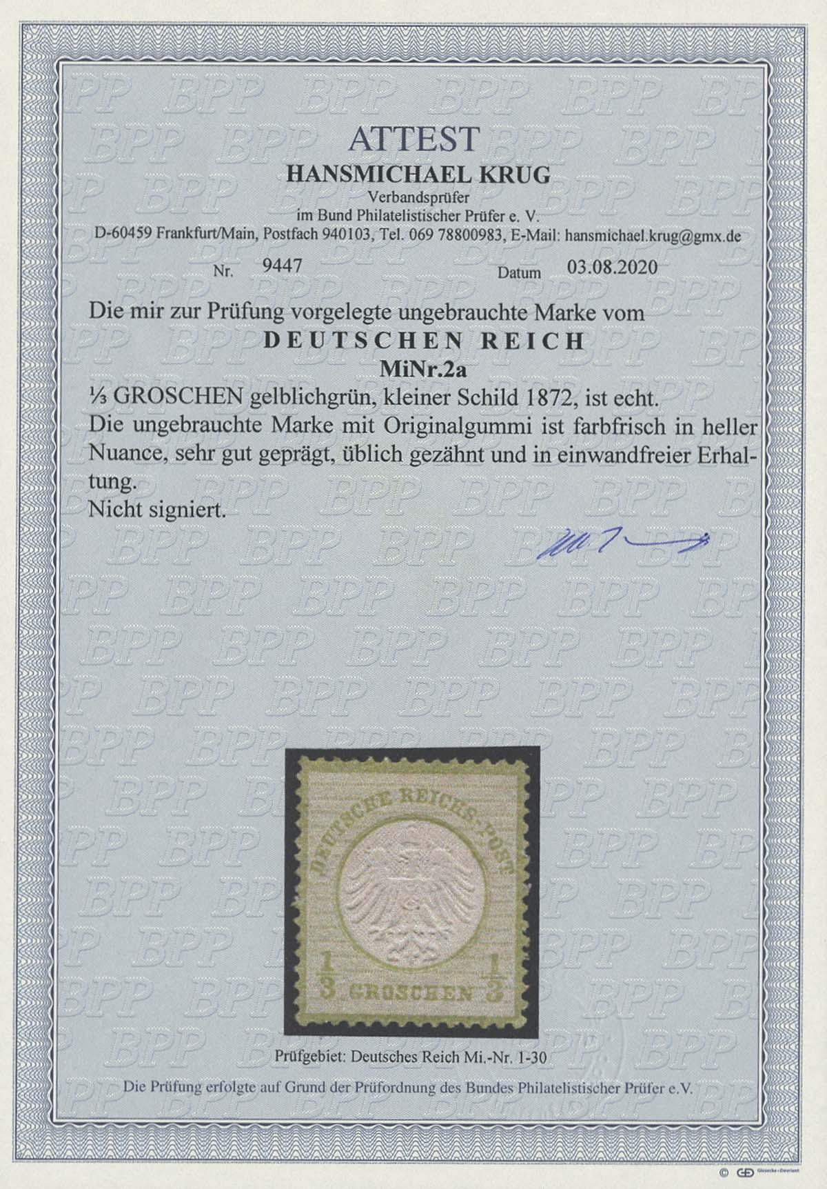 Lot 4191 - Deutsches Reich_Brustschilde  -  Auktionshaus Ulrich Felzmann GmbH & Co. KG Auction 170 International Autumn Auction 2020 Day 4