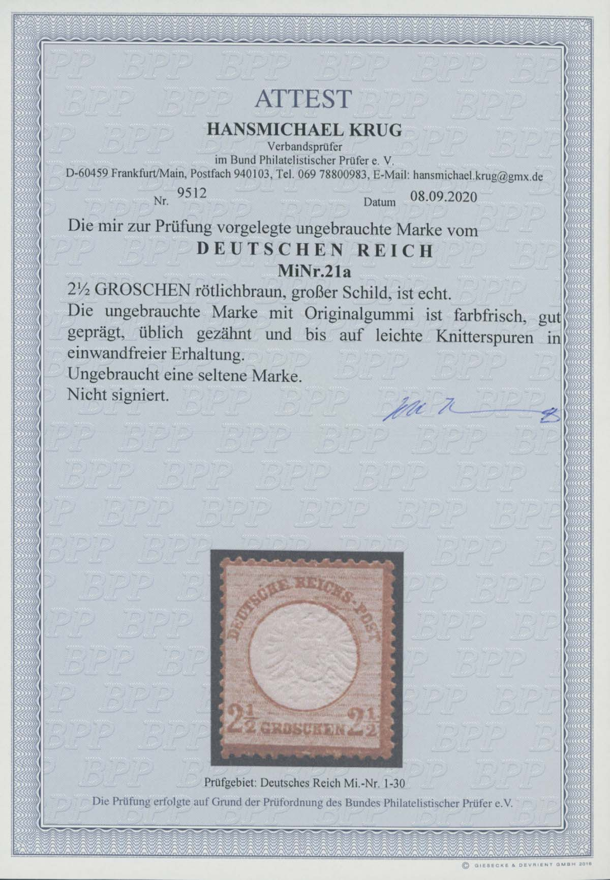 Lot 4201 - Deutsches Reich_Brustschilde  -  Auktionshaus Ulrich Felzmann GmbH & Co. KG Auction 170 International Autumn Auction 2020 Day 4