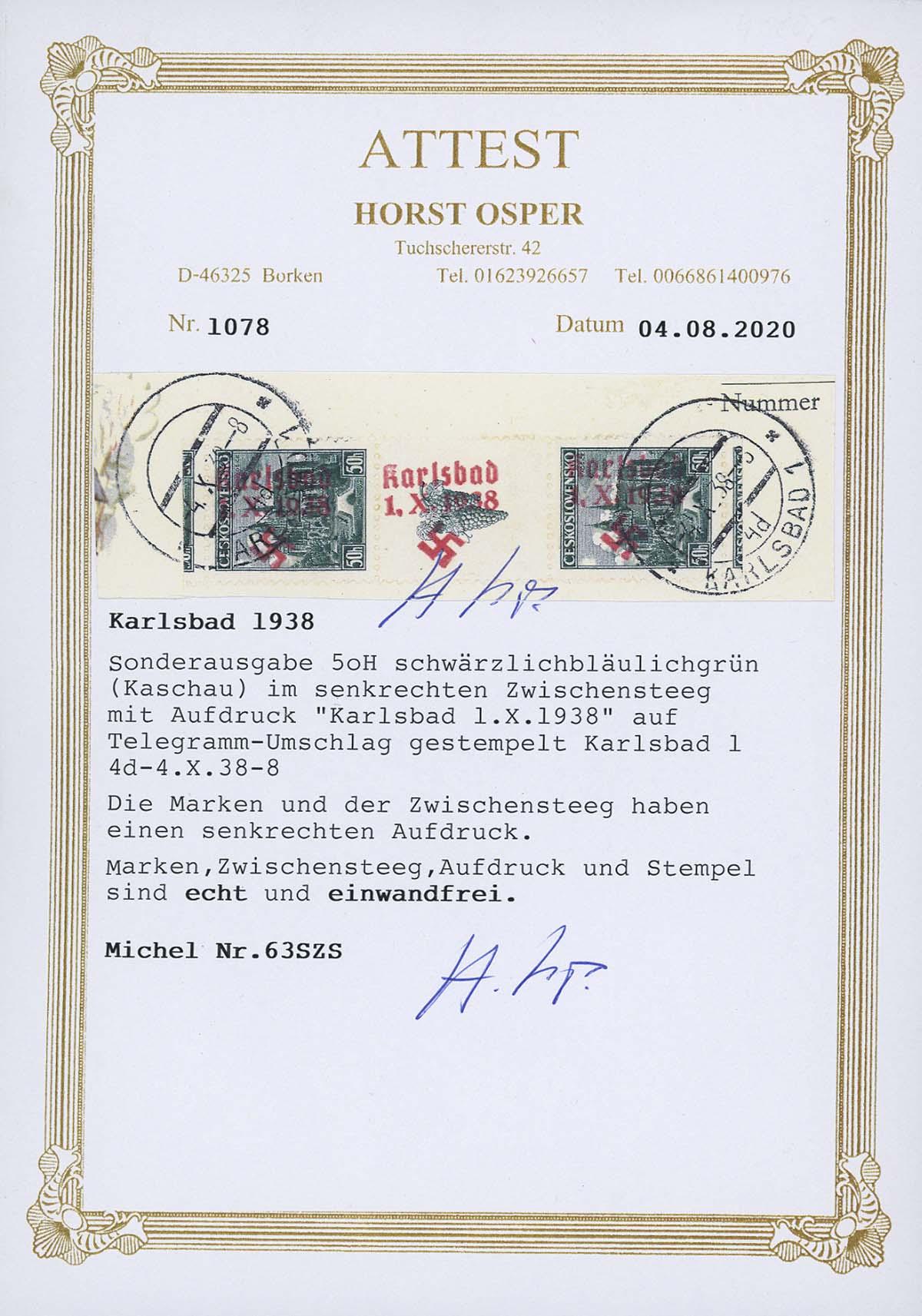 Lot 4569 - Sudetenland_Karlsbad  -  Auktionshaus Ulrich Felzmann GmbH & Co. KG Auction 170 International Autumn Auction 2020 Day 4