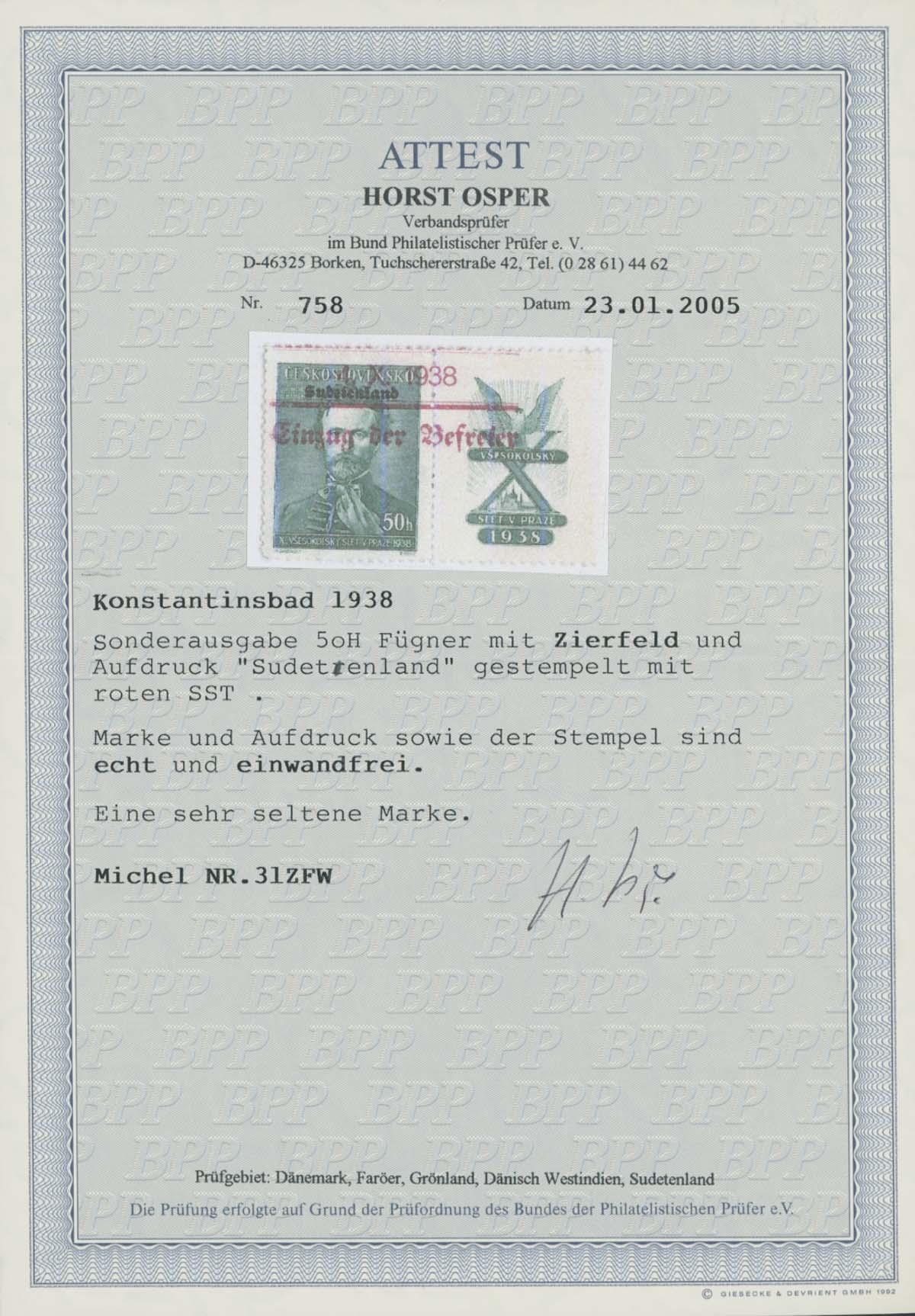 Lot 4571 - Sudetenland_Konstantinsbad  -  Auktionshaus Ulrich Felzmann GmbH & Co. KG Auction 170 International Autumn Auction 2020 Day 4