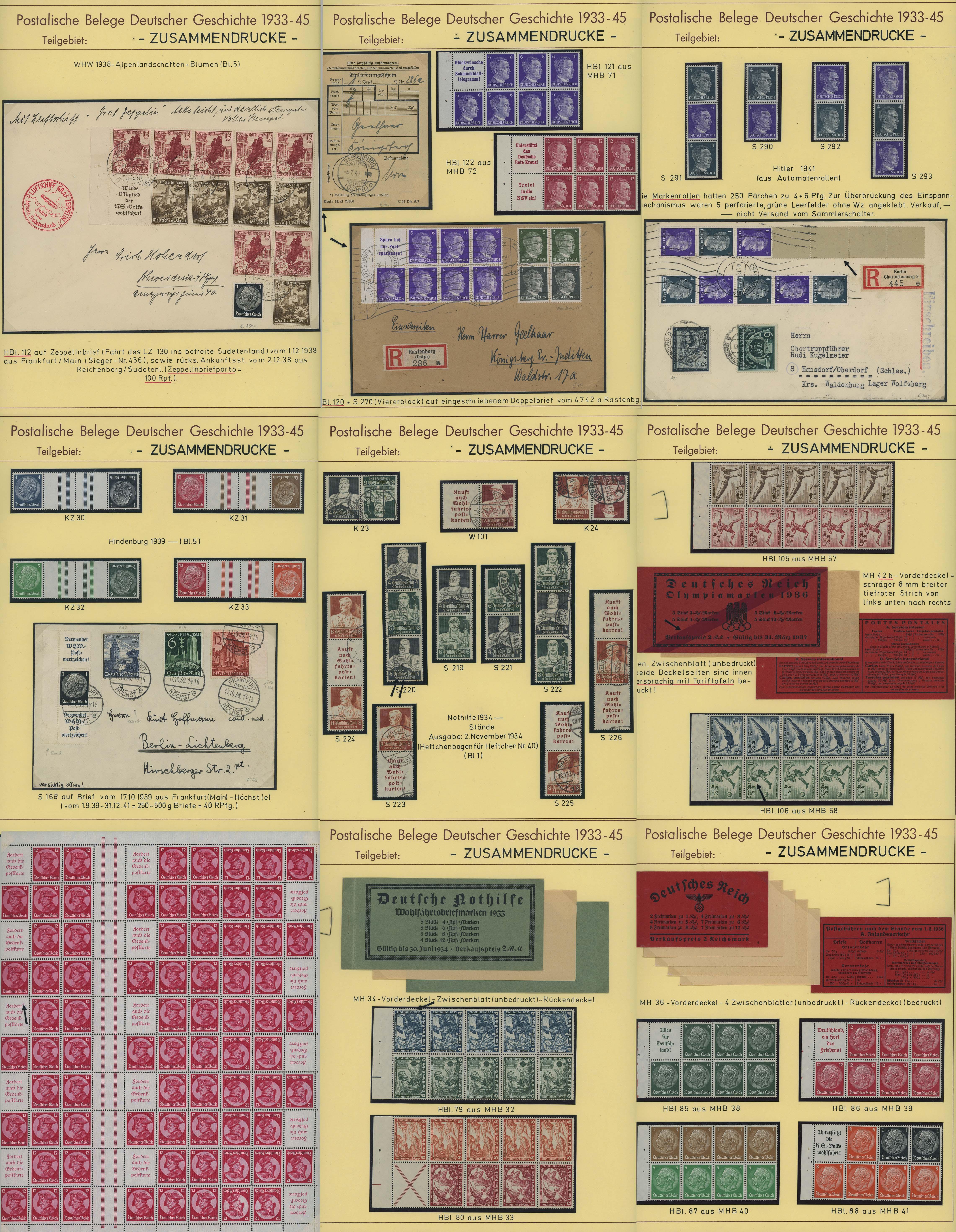 Lot 7344 - Deutsches Reich_Zusammendrucke S -  Auktionshaus Ulrich Felzmann GmbH & Co. KG Auction 170 International Autumn Auction 2020 Day 5